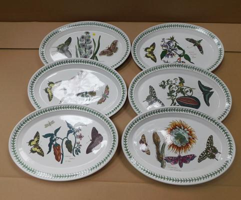 6x Large oval Portmeirion botanic gardens steak plates