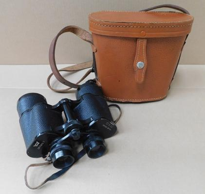 Pair of binoculars (10x50) in leather case