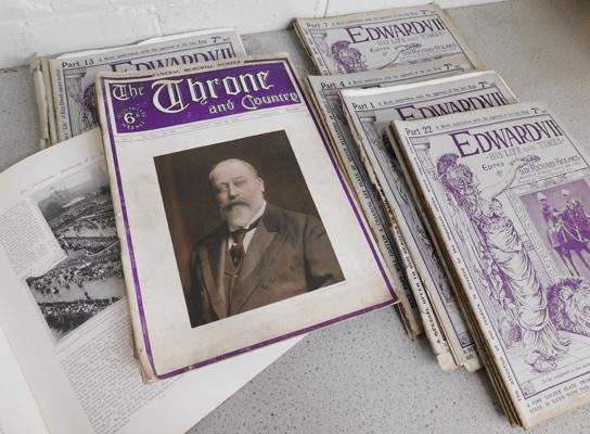 Set of Edward VII his life & times magazines