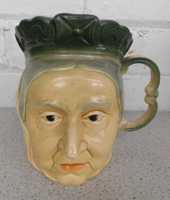 Vintage Queen Victoria mug, Kingston Pottery (slight damage to top)