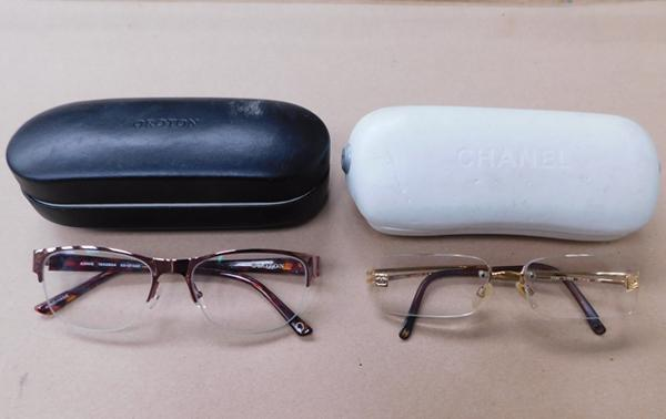2x Cased sets of glasses boxed Orton & Chanel-genuine