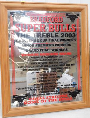 Bradford Bulls 2003 treble winners mirror