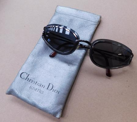 Cased set of Christian Dior sunglasses-genuine