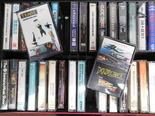 Box of cassettes inc Clannad Trans, Roxy Music etc approx 32