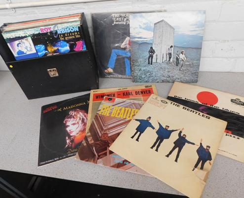 Case of collectable LPs, incl. Beatles, The Who, Joe Turner