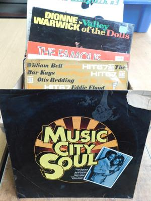 Box of records - Soul LPs
