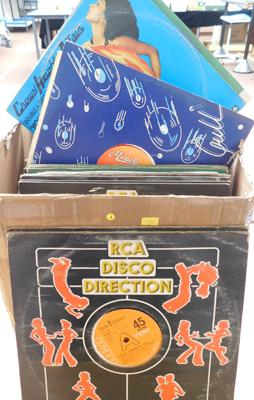 Large box of records - Disco, 12 inch singles
