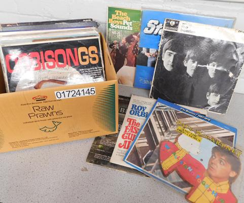 Box of collectable LPs incl. Beatles, Roy Orbison