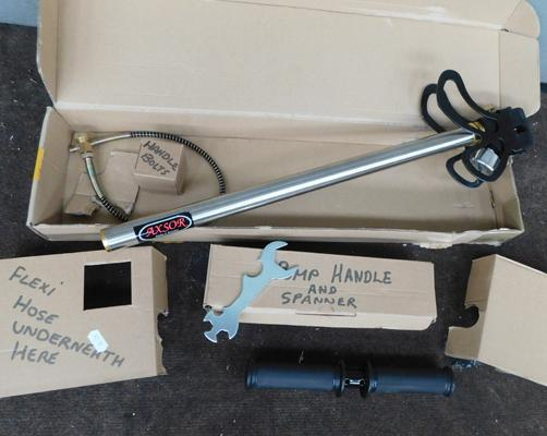 Stirrup pump - never used, suitable for air rifles
