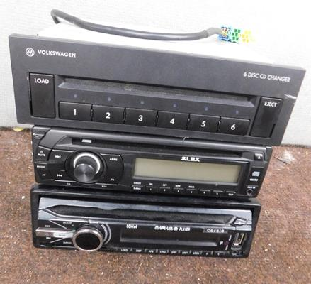 Three car CD stereos