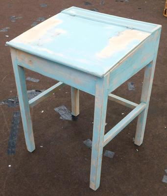 Vintage painted childs desk-distressed style