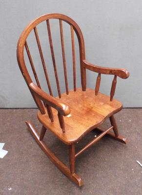 Oak childrens rocking chair