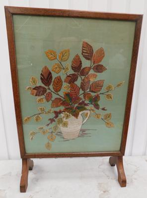 "Fire screen sampler approx 26"" tall"
