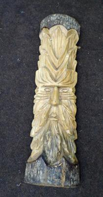 Hand carved wooden tree sculpture
