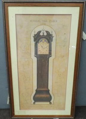 Large print of a Grandfather clock