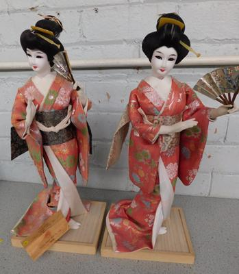 Pair of Japanese figures from Japan