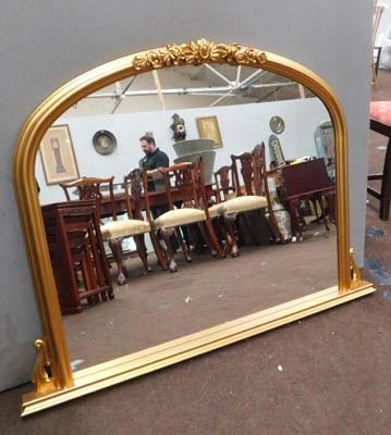 Large arched shape gold framed mirror-width approx 49""