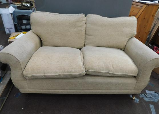 Laura Ashley 2 seater beige sofa