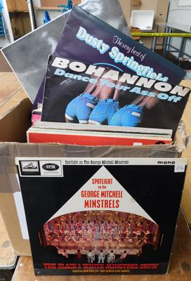 Large box of records - mixed LPs