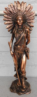 Large copper Indian figurine - approx. 40 inches