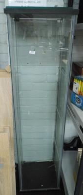 Tall glass display cabinet with 3 shelves