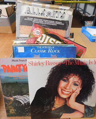 Box of records - mixed LPs