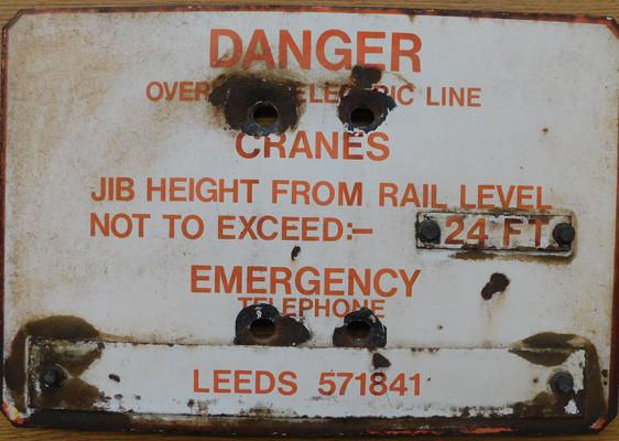 Railway danger sign