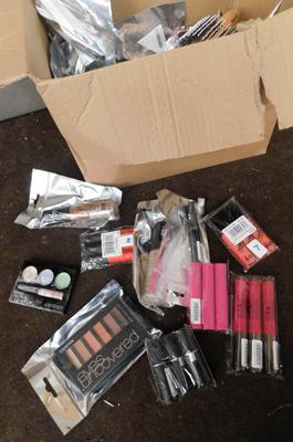 Large box of new/sealed cosmetics