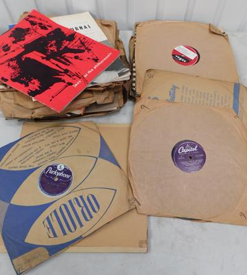 Large collection of jazz 78s with early rock & roll inc Elvis, Bill Haley etc