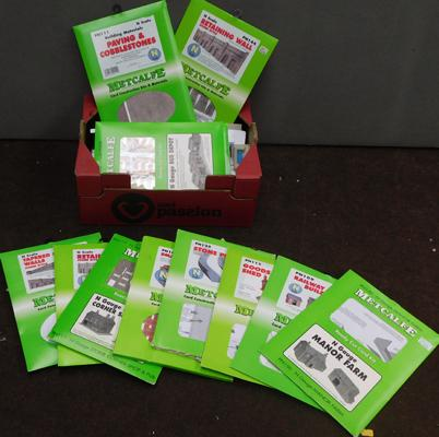 Selection of N gauge railway cardboard models-kits & printouts-not checked