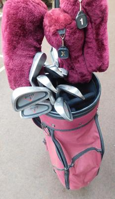 Set of golf clubs with bag etc...