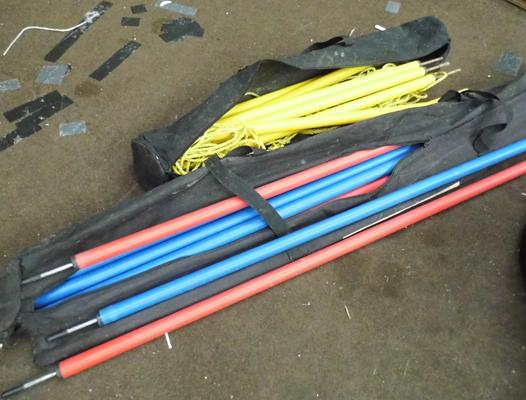 Selection of football training poles etc