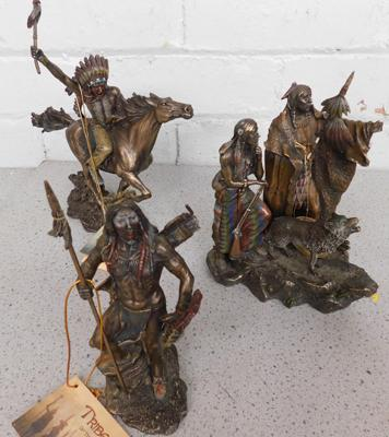 3 x Tribes of the World figures, resin coated