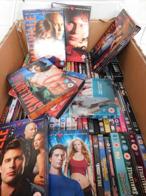 Large collection of DVDs, incl. some box sets - Smallville & Scrubs