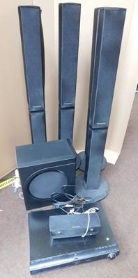 Panasonic complete surround with 4 towers/2 speakers