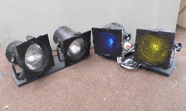 2x Sets of 2 theatre lights (been used by DJ on stage)