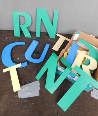 Selection of shop letters x 19 - largest approx. 14 inches tall