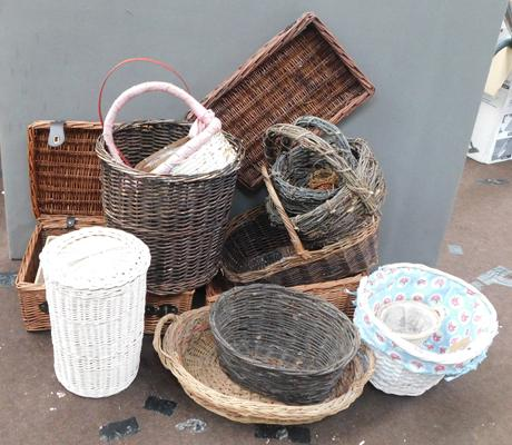 Selection of wicker baskets