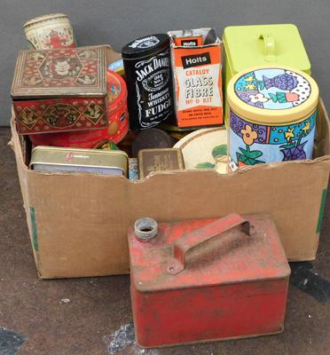 Selection of tins etc