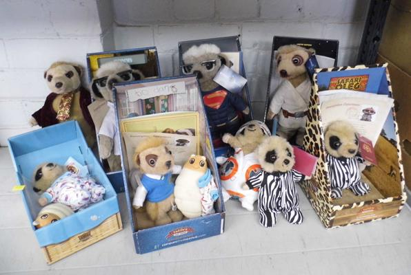 Selection of 9 Compare the Meercats, some boxed, some certificates