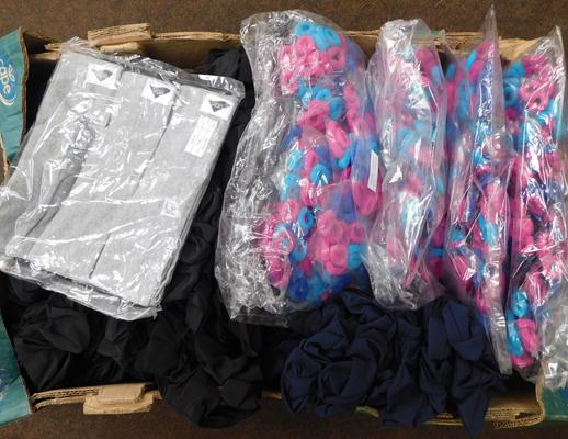 Box of scrunches, bobbles & head bands