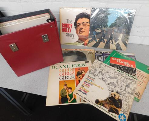 Case of collectable LPs, incl. Beatles, Rout of the Blues, Still
