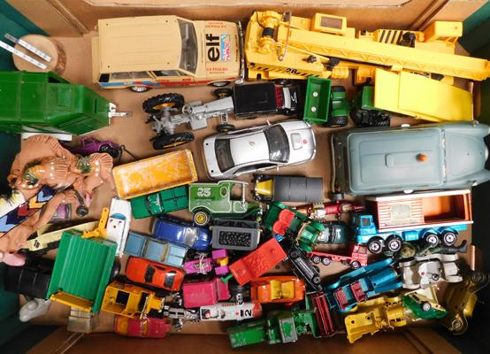 Collection of vintage 1970s diecast cars & trucks