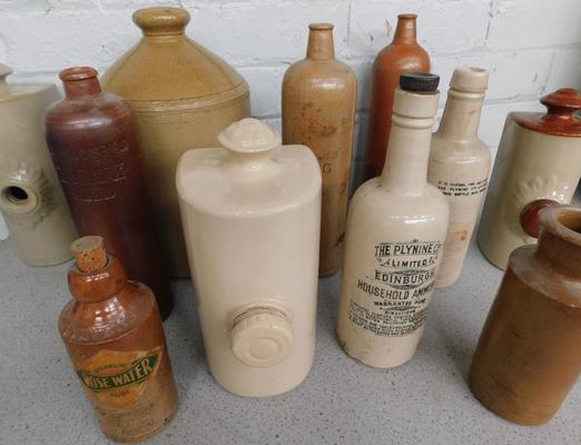 Large selection of stoneware