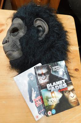 Planet of the Apes DVDs with full head mask