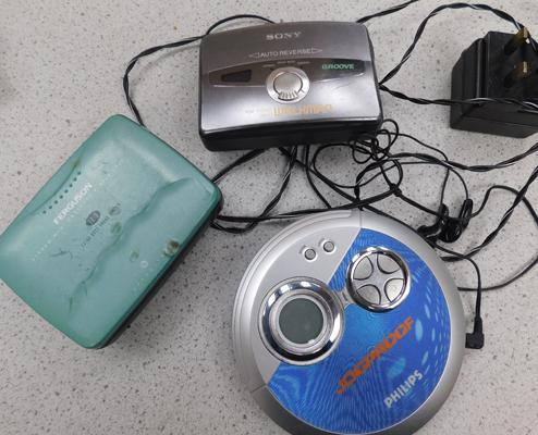 Collectable walkmans & portable CD player