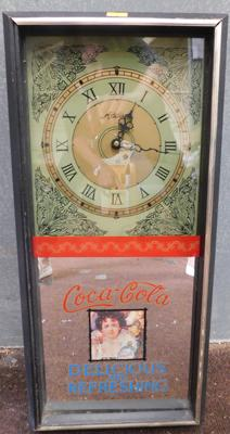 Vintage inspired Coca Cola mirrored clock (not working)