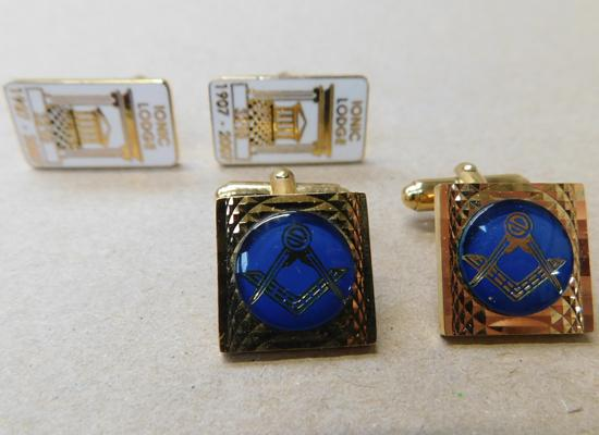 2x Sets of Freemasons cufflinks