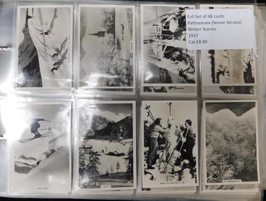 13 full sets of cigarette & trade cards