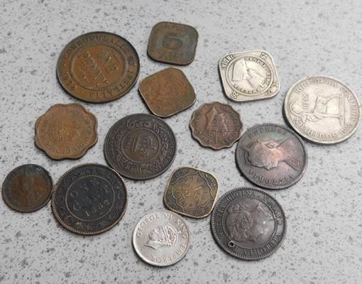 Assortment of early commonwealth coins